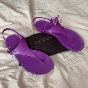 GUCCI | Purple Jelly Biodegradable Sandals